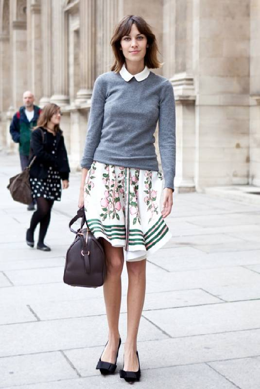 Streetstyle de la Fashion Week de Paris, hors Louis Vuitton, Alexa Chung